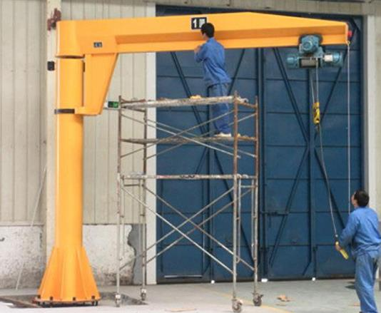 Workshop With A Column-Mounted Jib Crane